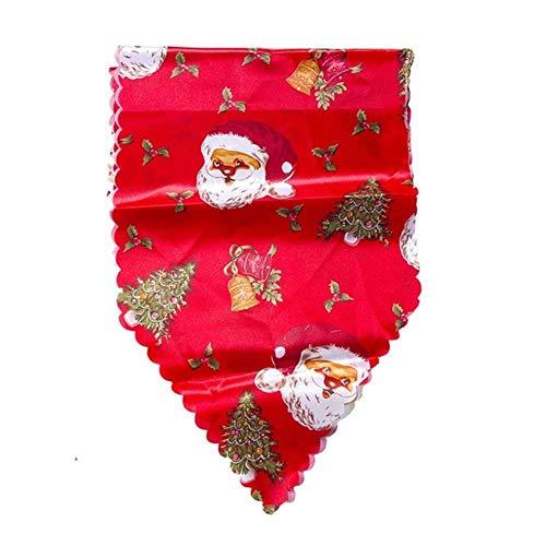 CADXDZS Camino de Mesa de Navidad Creativo Mantel de Lino de algodón de Navidad y Camino de Mesa decoración de Mesa Camino de Mesa Corredor 02 *