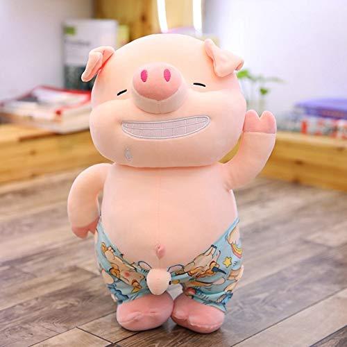 Sexy Little Pig Plush Toy, Cute Animal Plush Beach Pig Pillow, Doll Children'S Toy, Regalo De Cumpleaños 45Cm Blanco