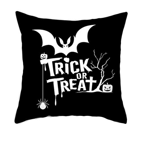 NWQEWDG Funda de cojín para Halloween, cráneo, para Halloween, cojín Decorativo, para sofá, cafetería, casa, Halloween, Fiestas, sofá, decoración, 45 cm x 45 cm, 9, 45 * 45cm