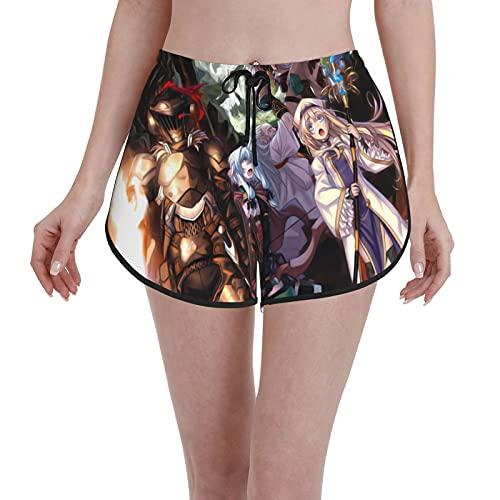 Inaayayi Goblin Slaye Pantalones Cortos Femeninos Cordón Natación Trunks Secado Rápido Playa Boardshorts Verano Novedad Patrones Trajes De Baño Casual Cintura Traje De Baño