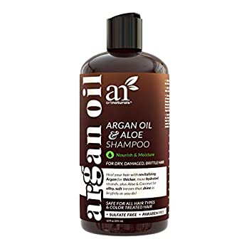 artnaturals Moroccan Argan Oil Shampoo -  12 Fl Oz / 355ml  - Moisturizing Volumizing Sulfate Free Shampoo for Women Men and Teens - Used for Colored and All Hair Types Anti-Aging Hair Care
