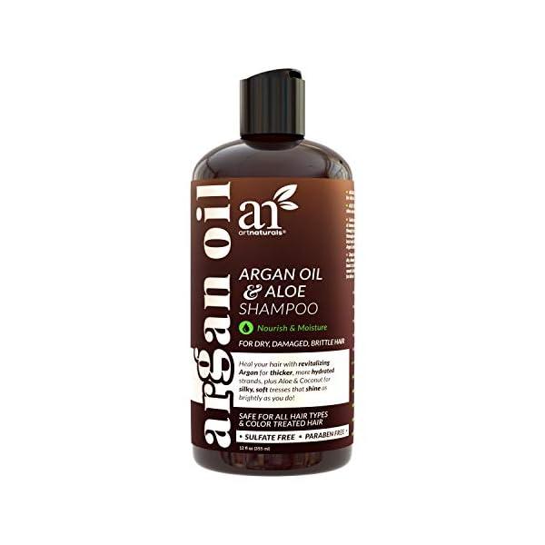 artnaturals Moroccan Argan Oil Shampoo - (12 Fl Oz / 355ml) - Moisturizing, Volumizing Sulfate Free Shampoo for Women… 1