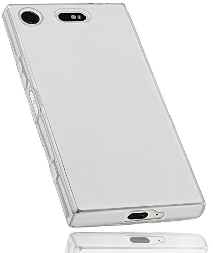 mumbi Hülle kompatibel mit Sony Xperia XZ1 Compact Handy Hülle Handyhülle, transparent Weiss