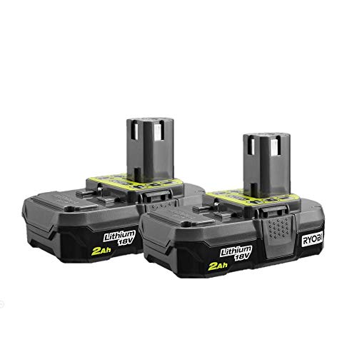 RYOBI P161 (P190 2 pack ) 18 volt ONE+ 2.0Ah Compact Lithium-Ion Battery