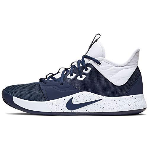 Nike PG3 Basketball Shoes (14, Navy/White)