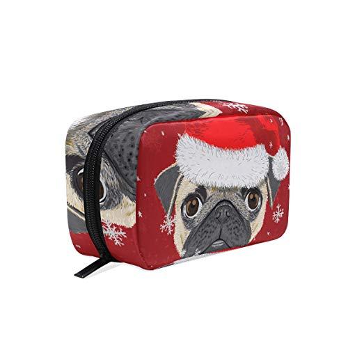 Make-up tas schattig beker hond vrolijk kerst cosmetische zak koppeling