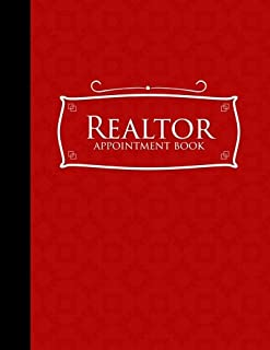 Realtor Appointment Book: 7 Columns Appointment Organizer Planner, Cute Appointment Book, Timed Appointment Book, Red Cover (Volume 55)