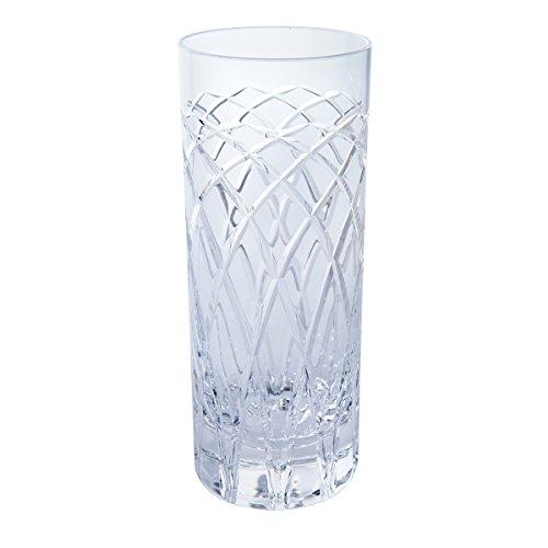 Royal Brierley Harris–Vaso de Tubo de Cristal, Transparente