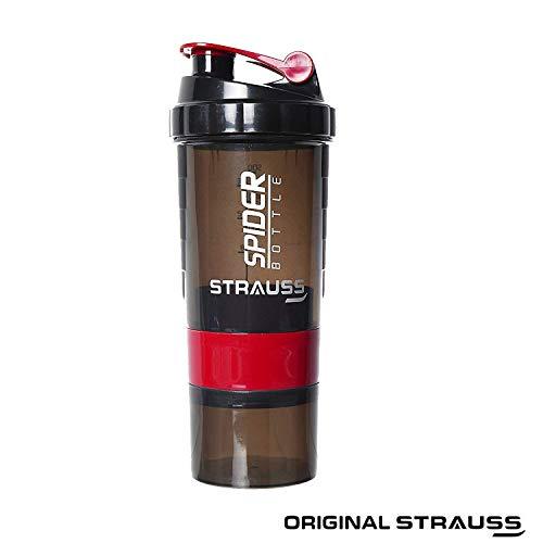 Strauss Spider Shaker Bottle 500ml, Red
