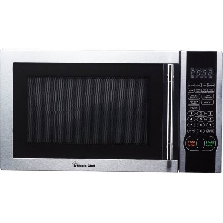 Magic Chef 1.1 cu. ft. Digital Microwave, Stainless Steel, 1,000 watts, 10 power levels, Simple and intuitive electronic controls
