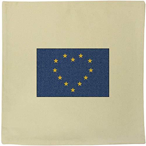 Azeeda 40cm x 40cm 'EU Heart Flag' Canvas Cushion Cover (CV00000522)