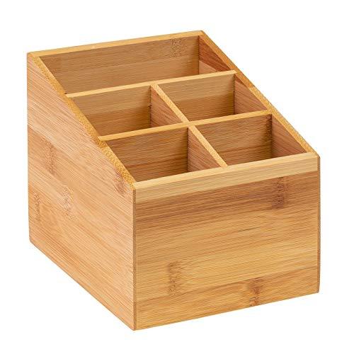 Westmark Küchen-Organizer/Tischbutler, 5 Fächer, Maße: 13 x 13,5 x 16 cm, Bambus, Tapas + Friends, Hellbraun, 69842270