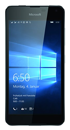 Microsoft Lumia 650 Dual-SIM Smartphone (5 Zoll (12,7 cm) Touch-Display, 16 GB Speicher, Windows 10) schwarz