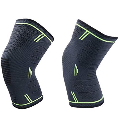 Transpirable Rodillera Deportiva Rodilla de compresión de la manga de la almohadilla de gel soporte de rótula y el estabilizador de muelle lateral, for la protección de la rodilla con el funcionamient