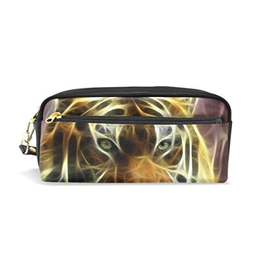 Tiger - Estuche escolar para lápices, bolsa de gran capacidad para maquillaje, cosméticos, oficina, bolsa de viaje