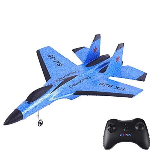 MUMUMI Foam Fixed-Wing RC Glider, USB-Lade 2.4G Smart Balance RC Flugzeug, Anti-Kollisions-Gürtel LED RC Flugzeuge, Kinder Weihnachten Fernbedienung Hubschrauber Geschenk