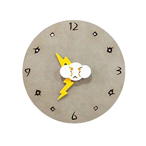 LINGZHIGAN Creative Decorative Wall Clock Cartoon Horloge colorée Rétro Chambre Salle d'étude Salle de séjour Kid Small 20cm ( Couleur : B )