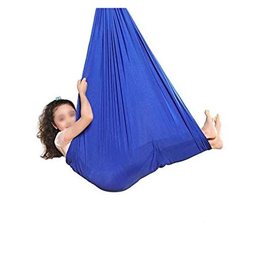 YANFEI Columpio sensorial Niños y Adolescentes Terapia Interior Hamg Mock Swing Silla Elástica Anti-Gravedad Yoga Swing para Autismo ADHD Aspergers y SPD Flexibilidad y Fuerza Central mejoradas