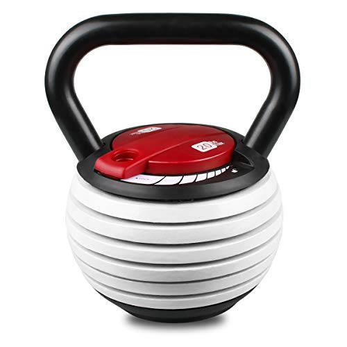 LUBAN Adjustable Kettlebell 20 LB, Weight Adjustable at 7.5, 10, 12.5, 15, 17.5, 20 LBS (3.5 to 9 KG), Cast Iron Made