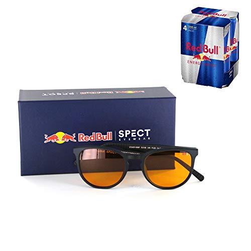 Imbaspecs Gaming Brille Red Bull Steady-006P mit Orangelichtfilter - Anti Orangefilter Brille entspiegelt - Computerbrille, Gaming Glasses, Bildschirmbrille