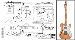 Plan of Fender Telecaster - Guitarra eléctrica de línea fina, impresión a escala completa
