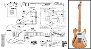 Plan of Fender Telecaster Thinline Electric Guitar - Full Scale Print