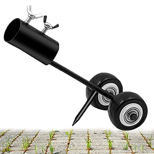 GARNE Extractor de malas hierbas sobre ruedas, con ruedas, extractor de malas hierbas, rodillo extractor de malas hierbas, extractor de vinos, herramienta de jardín para entrada de aceras