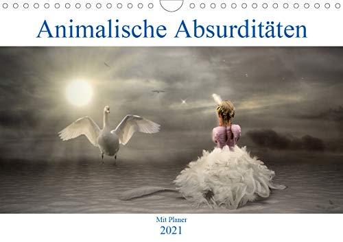 Animalische Absurditäten mit Planer (Wandkalender 2021 DIN A4 quer)