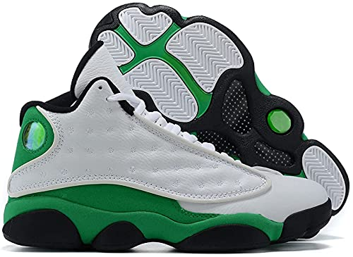CPBY Men13 Decompressione Traspirante Nuove Scarpe da Basket Abbigliamento Abbigliamento Scarpe Traspiranti, White-Green - 8.5