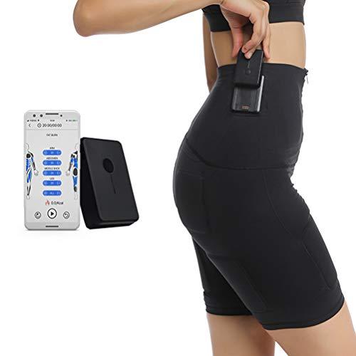 LOO LA 300m Kabelloses EMS Fitness Jogging Yoga tragen dünne Hosen, EMS Home Anzug, Tragbarer Muskel Trainer 5 Modi 99 Intensitäten Geeignet Damen & Herren,Shorts,M