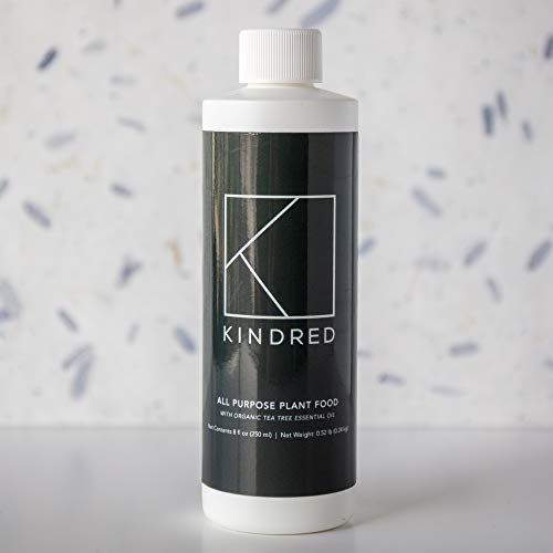 Kindred Indoor Plant Food with Natural Essential Oils | All-Purpose Liquid Plant Fertilizer Grows Faster, Heals Damage, and Protects