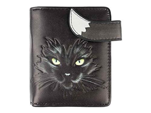 Geldbörse Katze schwarz - bb-Klostermann 51207 - Geldbeutel Portemonnaie