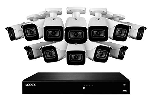 Sale!! Lorex 16 Channel 4K Home Security System with N861D63B 4K 3TB NVR and 12 8MP 4K E861AB Bullet...