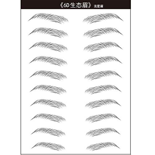 Wishwin 6D Haarähnliche Authentische Augenbrauen Pflege Shaping Brow Shaper Wasserdichtes Lang Anhaltendes Makeup Eyebrow Tattoo Sticker