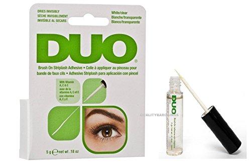 Duo - Brocha de pegamento para pestañas de secado rápido, transparente.