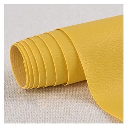 SSYBDUAN Möbelstoff Premium Bezugsstoff Zum Lederreparatur Patch,Selbstklebender Reparaturflicken Kunstleder für Leder Sofa Möbel Autositze und Taschen, Gelb, 1,37 × 0,5 m (Size : 1.37×6m)