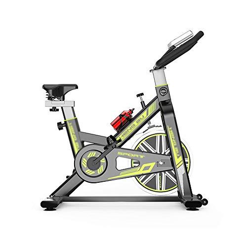 XJWWW-URG Las Bicicletas de Ejercicio Vertical (Estudio Interior Ciclos) Monitor de Ritmo cardíaco, Grande bidireccional del Volante, transmisión por Correa URG (Color : Green)