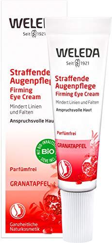 WELEDA Granatapfel Straffende Augenpflege, Naturkosmetik Augencreme schützt vor Umwelteinflüssen, mindert Falten und strafft die feine Haut um die Augen für Männer und Frauen (1 x 10 ml)