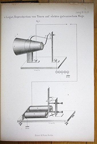 -1869 Telegraphie telegraphy Telefon telephone Philipp Reis Bell 1st picture