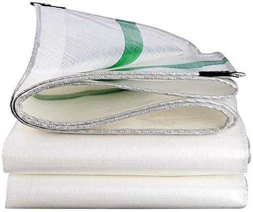 QYQS Plastic Tarp to Cover The Sun and Rain, 15 Mil Thick (Color : White)(Size:5m×6m,Color:White)