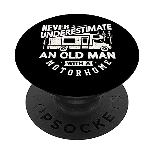 Retirement Never under estimate an old man retired PopSockets PopGrip Intercambiabile