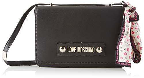 Love Moschino Unisex-Erwachsene Jc4026pp18lc0000 Umhängetasche, Schwarz (Nero), 19x5x29 centimeters