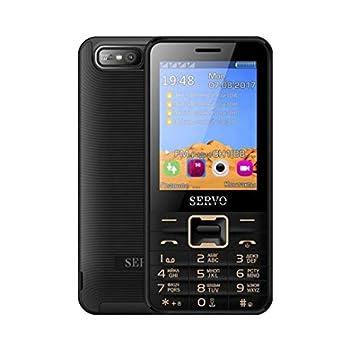 Servo 8100 Quad Sim Cell Phone Quad Band 2.8 inch 4 SIM Cards 4 Standby Phone Unlocked  Black