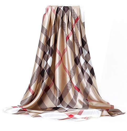 Silk 35'' Mulberry Stain Silk Square Scarf Fashion Pattern Neck Scarf Headscarf for Women