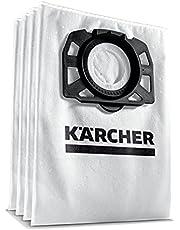 Kärcher Vliesfilterzakset (4 Stuks Vliesfilterzakken, Extreem Scheurvast, Stofbestendigheid), Voor Kärcher Multifunctionele Zuiger WD 4 - WD 6 En MV 4 - MV 6, Wit