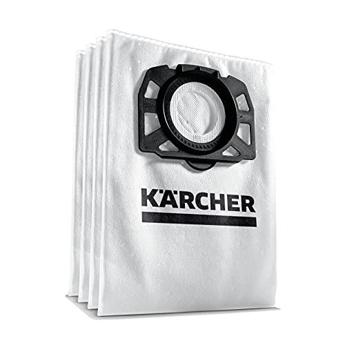 Kärcher Vliesfilterbeutel Set (4 Stück Vliesfilterbeutel, extrem Reißfest, Staubrückhaltegrad, für Kärcher Mehrzwecksauger WD 4 - WD 6 und MV 4 - MV 6, Artikelnummer: 2.863-006.0)