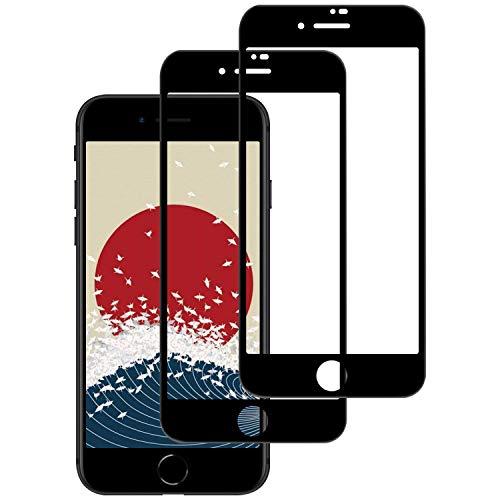 Seimina iPhone8/iPhone7 ガラスフィルム 強化ガラス 液晶保護フィルム iPhone SE 第2世代対応 全面保護日本製素材旭硝子製【硬度9H /飛散防止/3D Touch対応/指紋防止/透過率99%/ 気泡ゼロ/貼付け簡単】(4.7