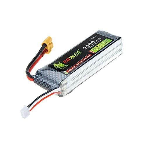 V-MAXZONE Rendimiento Lion Power RC Modelo Juguete Lipo Batería 11.1V 2200Mah 30C 45C w / XT60 Plug para Align Trex 450 Helicóptero RC Avión Coche