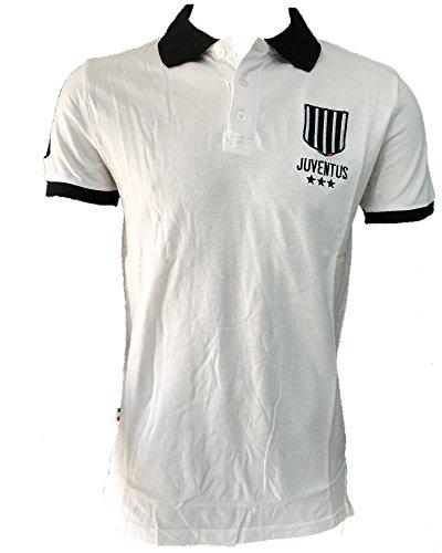 Polo Juventus Bianco Nera Logo Storico T-Shirt Juve PS 27075-L-bianco