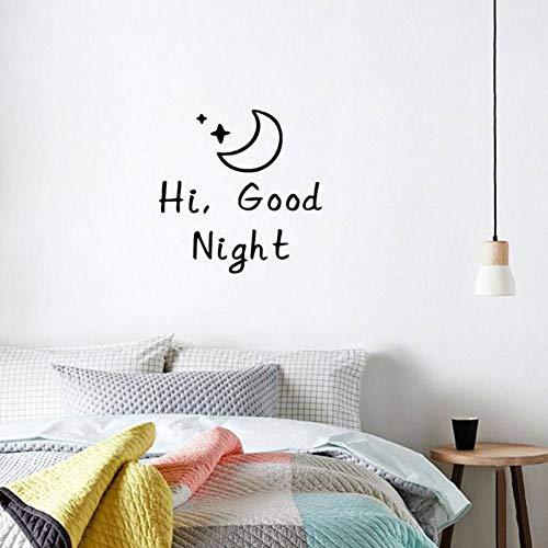 FOMBV Good Morning/Good Night Vinyle Autocollant Mural Salon Chambre à Coucher pour la décoration de la Maison Stickers muraux Art Alphabet Autocollants Papier Peint